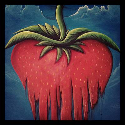 Painting - Strawberry Wip Instagram by David Junod
