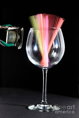 Acoustical Photograph - Straws In A Glass At Resonance by Ted Kinsman