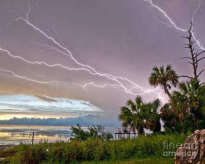 Photograph - Streak Lightning by Stephen Whalen