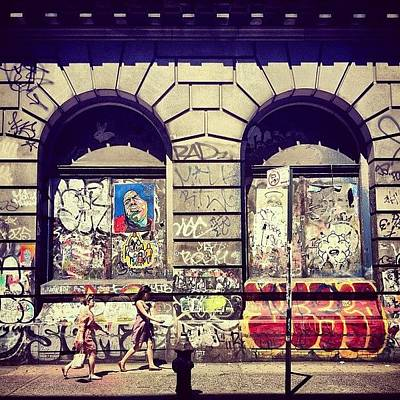 Cool Photograph - Street Art On The Bowery - New York City by Vivienne Gucwa