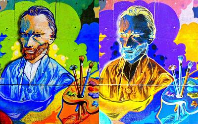 Digital Art - Street Art Two Van Goghs by Randall Weidner