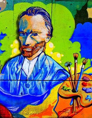 Street Art Van Gogh 1 Art Print by Randall Weidner