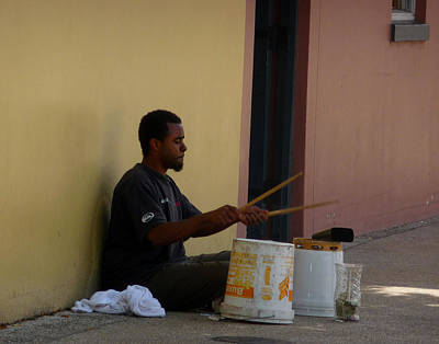 Photograph - Street Drummer by Helen Haw