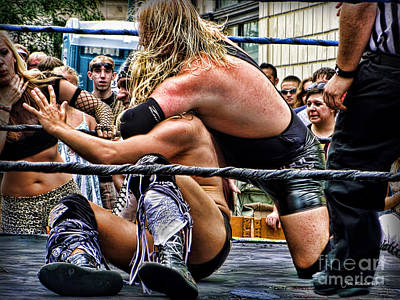 Photograph - Street Fair Wrestling by Joan  Minchak