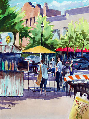 Street Fare Art Print by Ron Stephens
