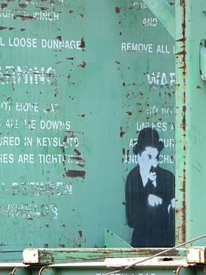 Photograph - Street Graffiti Art - The Little Tramp by Kathleen Grace