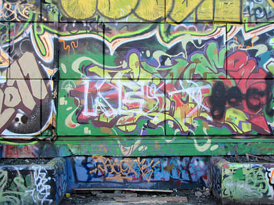 Photograph - Street Graffiti - Tubs IIi by Kathleen Grace