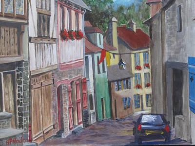 Street In Dinan Art Print