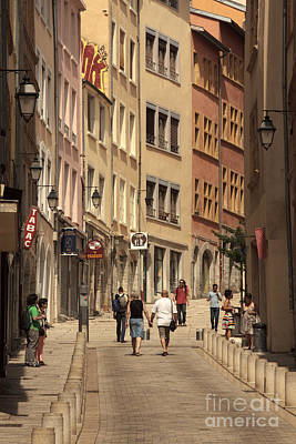 street in Lyon  Art Print
