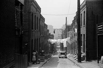 Street In Pittsburghs Hill District Print by Everett