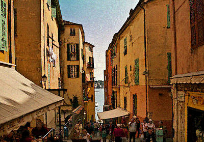 Photograph - Street In Villefranche II by Steven Sparks