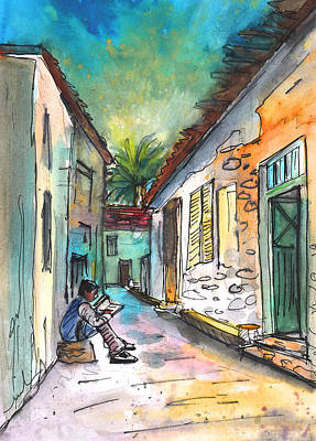 Painting - Street Life In Nicosia by Miki De Goodaboom