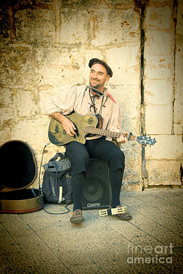 Photograph - Street Musician by Crystal Nederman