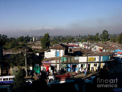 Street Of Addis Ababa Art Print by Cherie Richardson