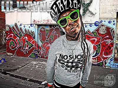 Street Phenomenon Lil Wayne Art Print by The DigArtisT