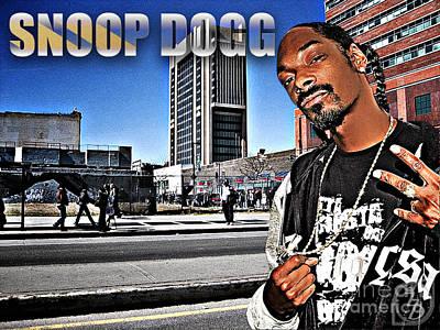 Harlem Digital Art - Street Phenomenon Snoop Dogg by The DigArtisT