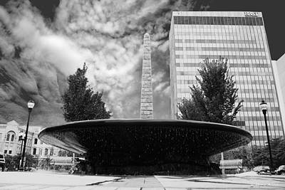 Photograph - Street Photography Downtown Asheville Fountain  by Gray  Artus