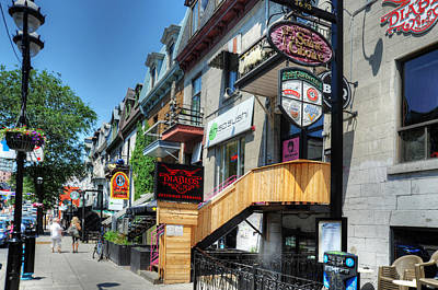 Montreal Restaurants Photograph - Street Scene by Al Perry