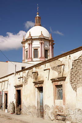 Photograph - Street Scene Mineral De Pozos Mexico by John  Mitchell