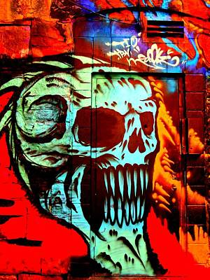 Digital Art - Street Skull by Randall Weidner