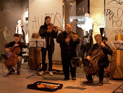 Photograph - Street String Quartet by Lorraine Devon Wilke
