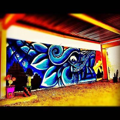 Dragon Photograph - #streetart #graffiti #phxstreetart by CactusPete AZ