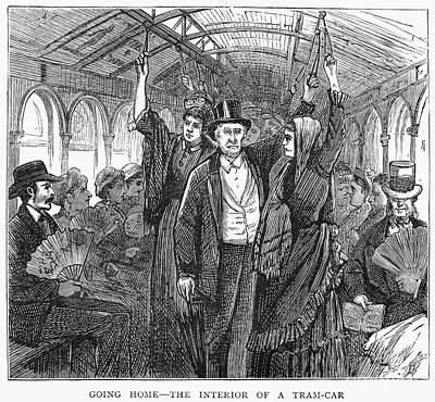 Streetcar, 1876 Art Print