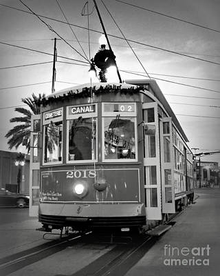 Beverly Brown Fashion Rights Managed Images - Streetcar Sunset 3 Royalty-Free Image by Perry Webster