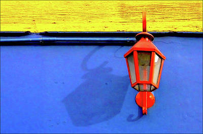 Streetlamp With Primary Colors Art Print by by Felicitas Molina
