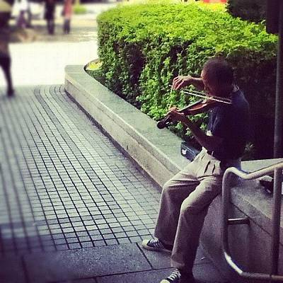 Music Wall Art - Photograph - #streetperformer Level: #asian. This by Angela Shipley