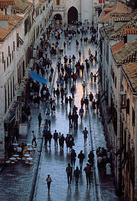 Streets Of Dubrovnik Art Print by Carl Purcell