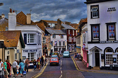 Photograph - Streets Of Lyme Regis by Andrea Everhard