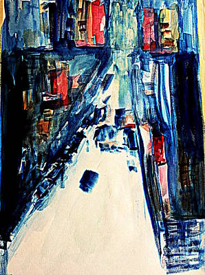 Painting - streets of Manhattan by Julie Lueders