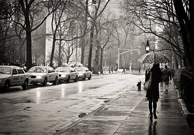 Nyc Rain Photograph - Streets Slick With Promise - Greenwich Village by Vivienne Gucwa