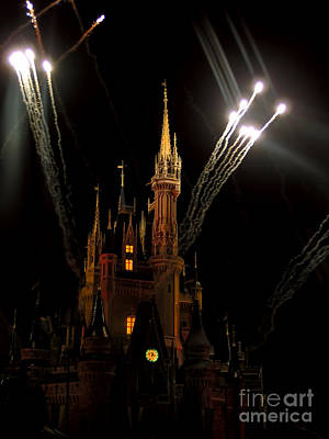 Photograph - Striking Midnight At Cinderella S Castle    by Alexandra Jordankova