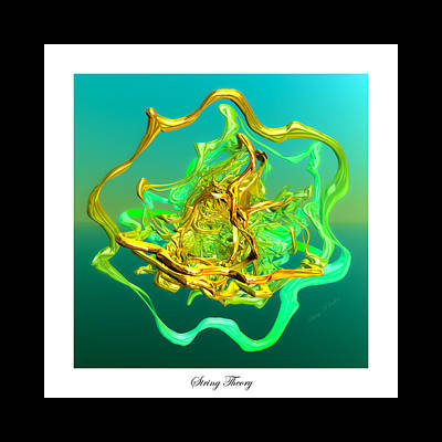 Round Digital Art - String Theory D by Betsy Knapp