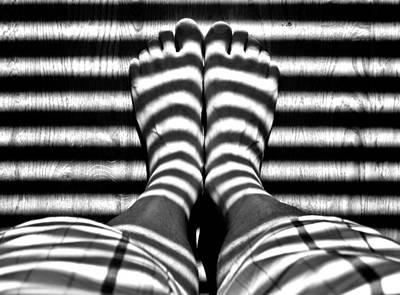 Stripe Socks? Art Print
