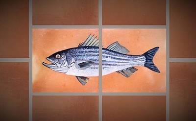 Striped Bass Art Print by Andrew Drozdowicz