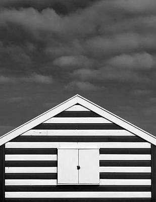 Built Structure Photograph - Stripes On Beach Hut by James Galpin