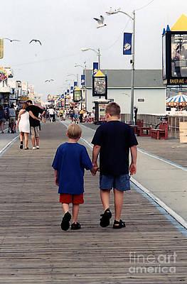 Photograph - Strolling Down The Boardwalk by Susan Stevenson