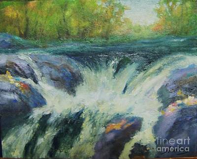 Wall Art - Painting - Strong Falls In Autumn by Judy Parins