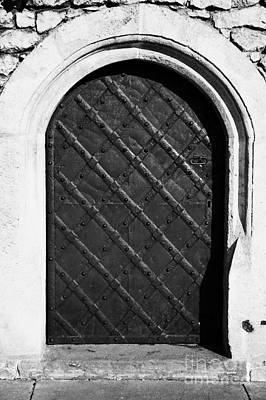 Cracovia Photograph - Strong Metal Covered And Braced Fortified Door For Strength In Wawel Castle Krakow by Joe Fox