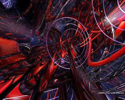 Bookmarks Digital Art - Structure And Abstract Fx  by G Adam Orosco