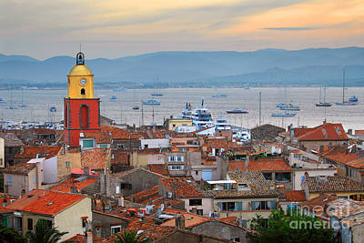 Saint-tropez At Sunset Art Print