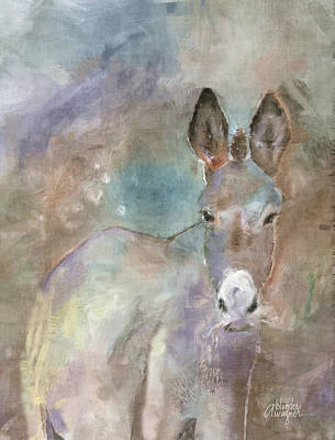 Burros Digital Art - Stubborn Jesse - I'm Not Moving by Arline Wagner