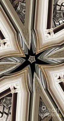 Kaleidescope Digital Art - Studded Allweather by Ron Bissett