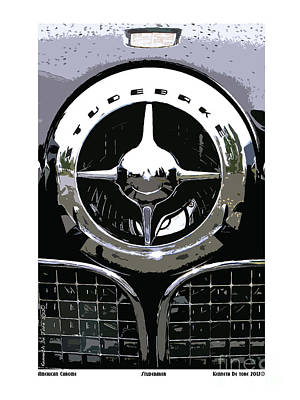Studebaker American Chrome Art Print by Kenneth De Tore