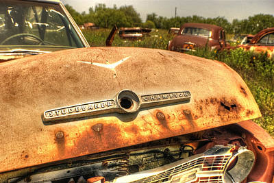 Wrecking Yard Photograph - Studebaker Champion by Beth Gates-Sully