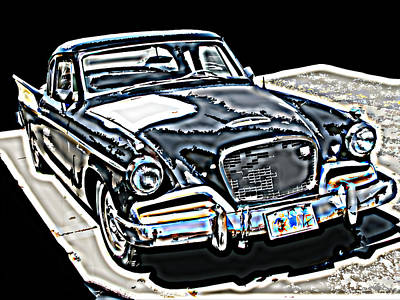 Studebaker Golden Hawk 1 Art Print by Samuel Sheats