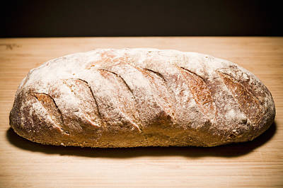 Studio Shot Of Loaf Of Bread Art Print